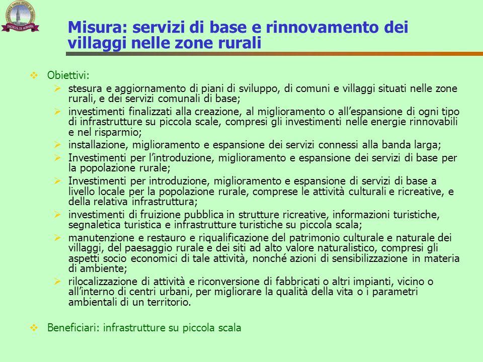 Misura: servizi di base e rinnovamento dei villaggi nelle zone rurali