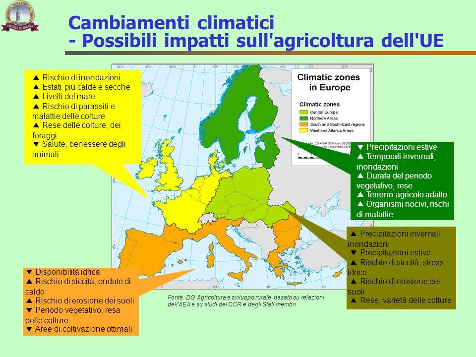 Cambiamenti climatici - Possibili impatti sull agricoltura dell UE