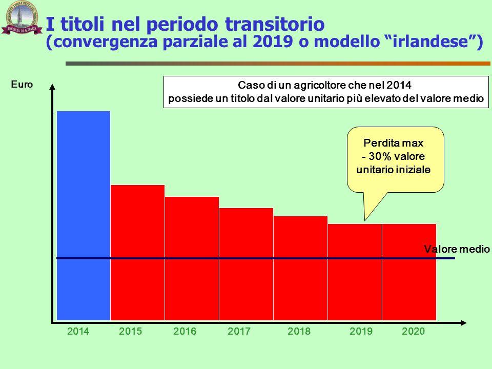I titoli nel periodo transitorio (convergenza parziale al 2019 o modello irlandese )