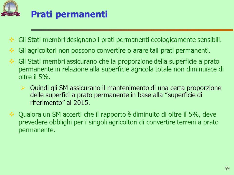 Prati permanenti Gli Stati membri designano i prati permanenti ecologicamente sensibili.