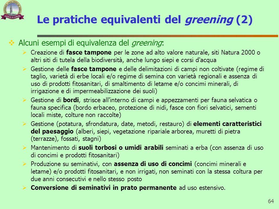 Le pratiche equivalenti del greening (2)