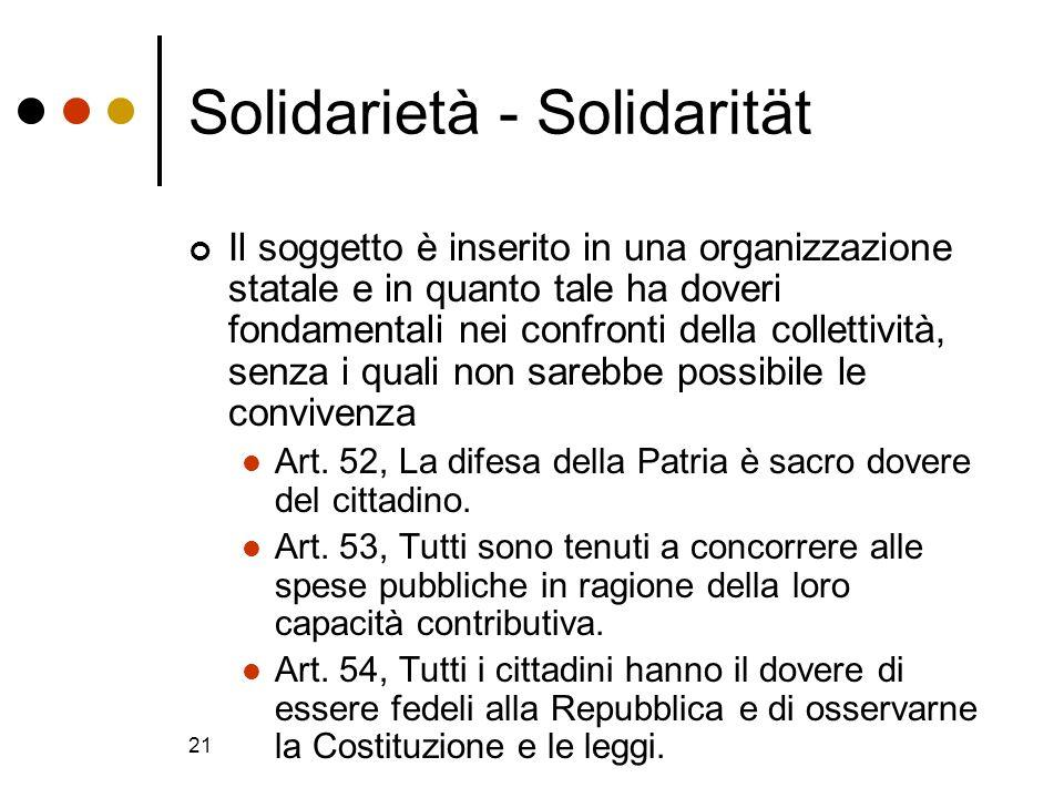 Solidarietà - Solidarität