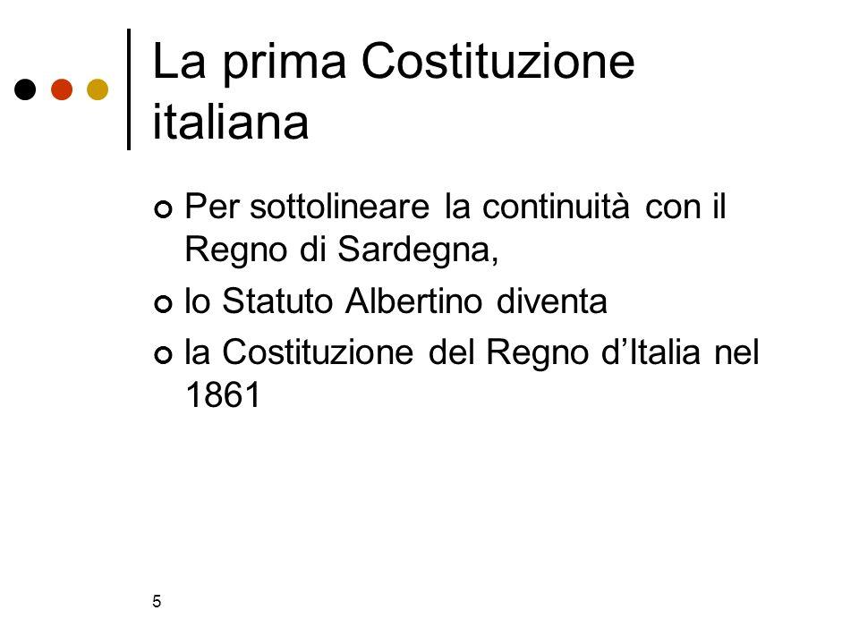 La prima Costituzione italiana