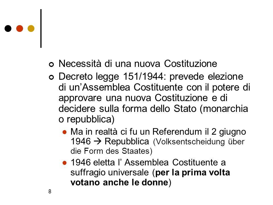 Necessità di una nuova Costituzione