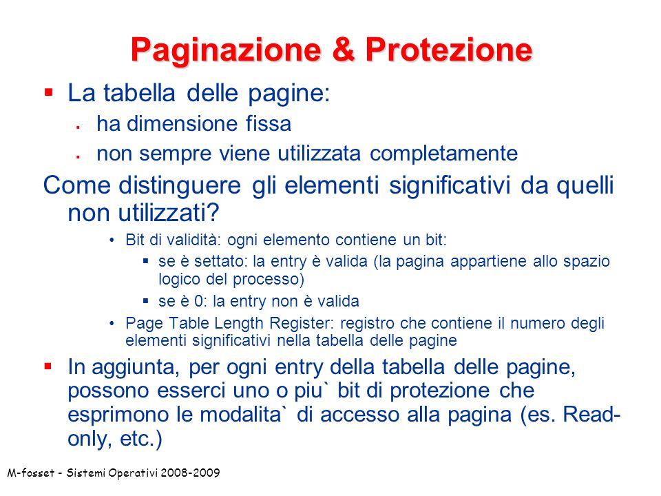Paginazione & Protezione