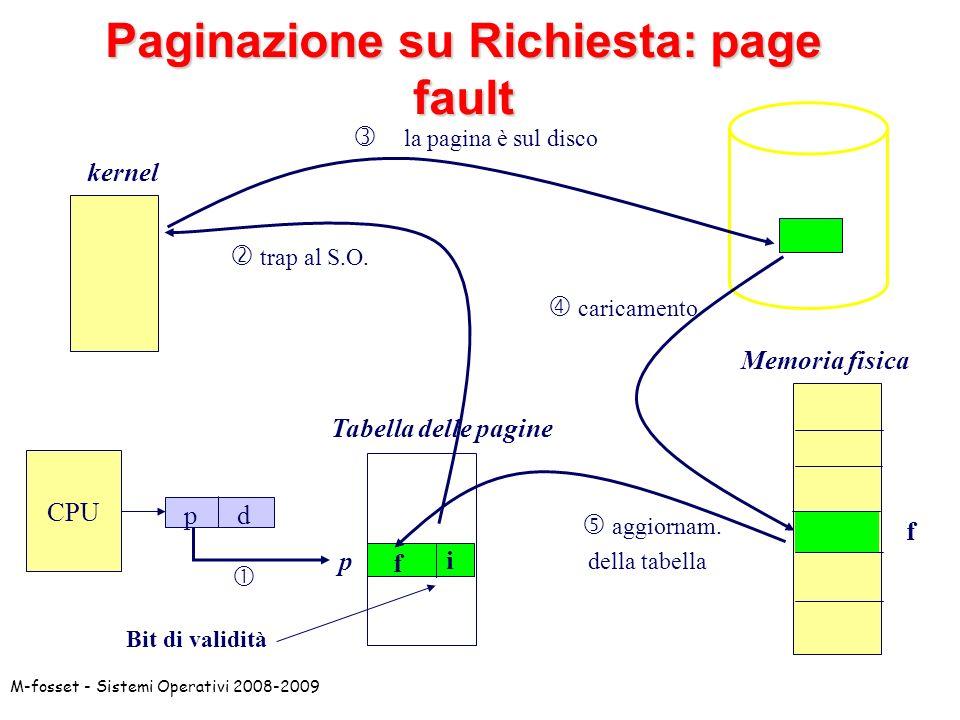 Paginazione su Richiesta: page fault