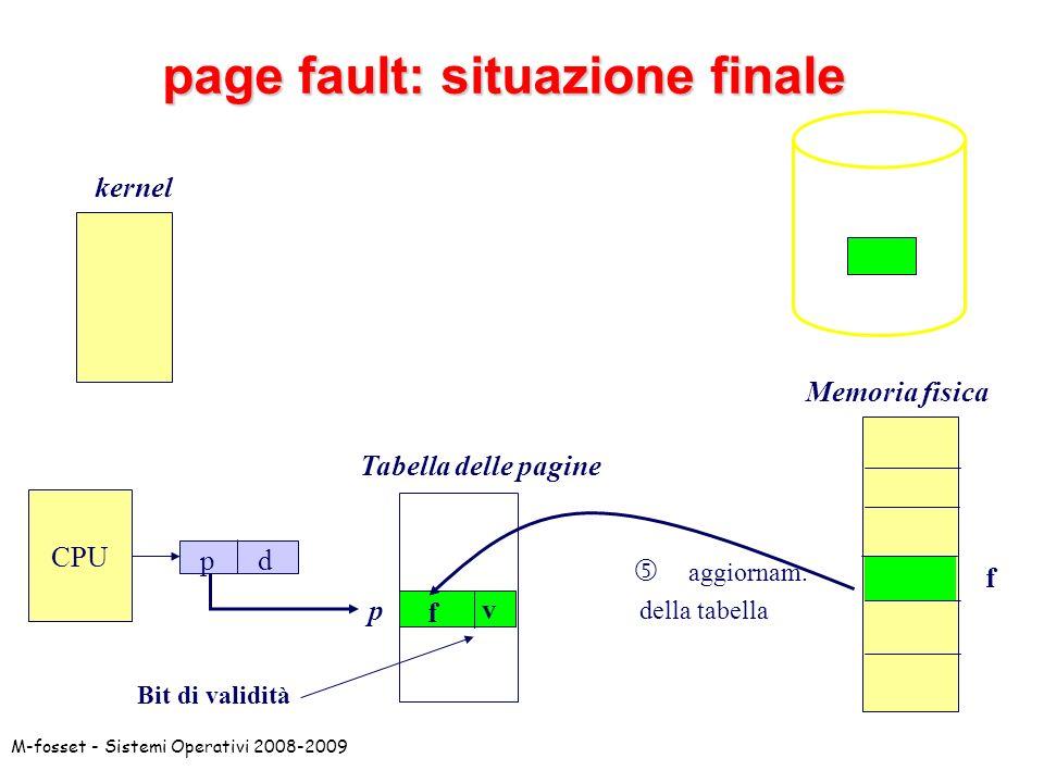 page fault: situazione finale