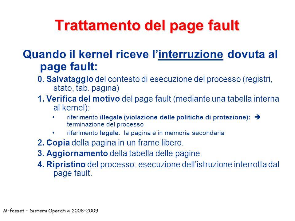 Trattamento del page fault