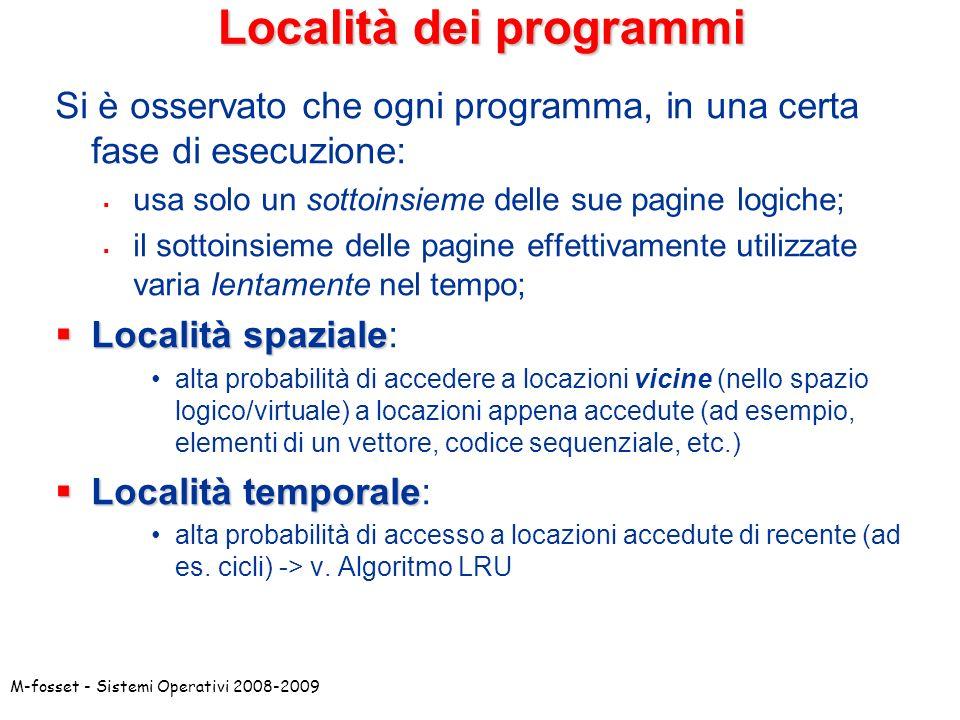 Località dei programmi