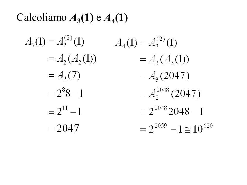 Calcoliamo A3(1) e A4(1)