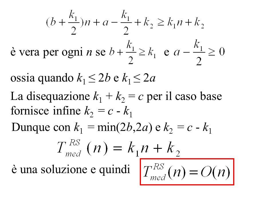 è vera per ogni n se e ossia quando k1 ≤ 2b e k1 ≤ 2a. La disequazione k1 + k2 = c per il caso base fornisce infine k2 = c - k1.