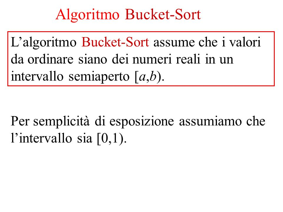 Algoritmo Bucket-Sort