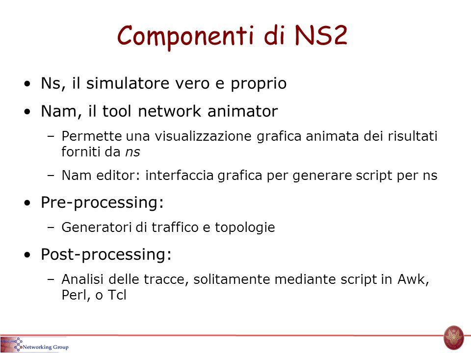 Componenti di NS2 Ns, il simulatore vero e proprio