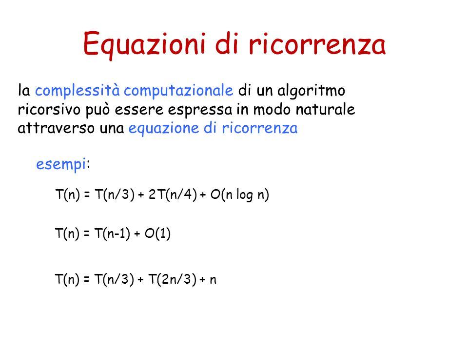 Equazioni di ricorrenza