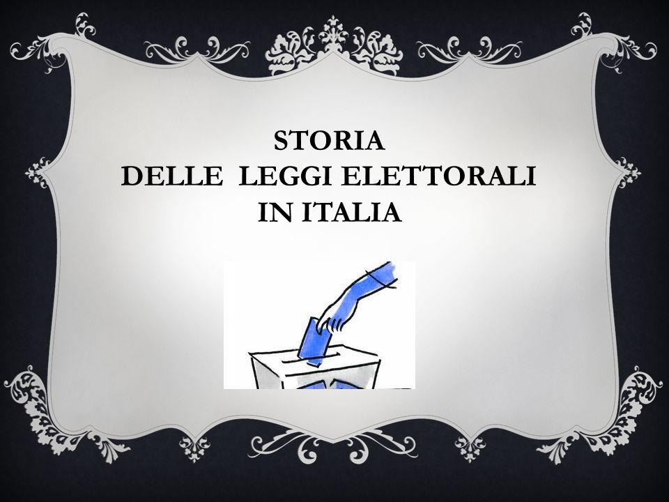 Delle leggi elettorali ppt video online scaricare for Chi fa le leggi in italia