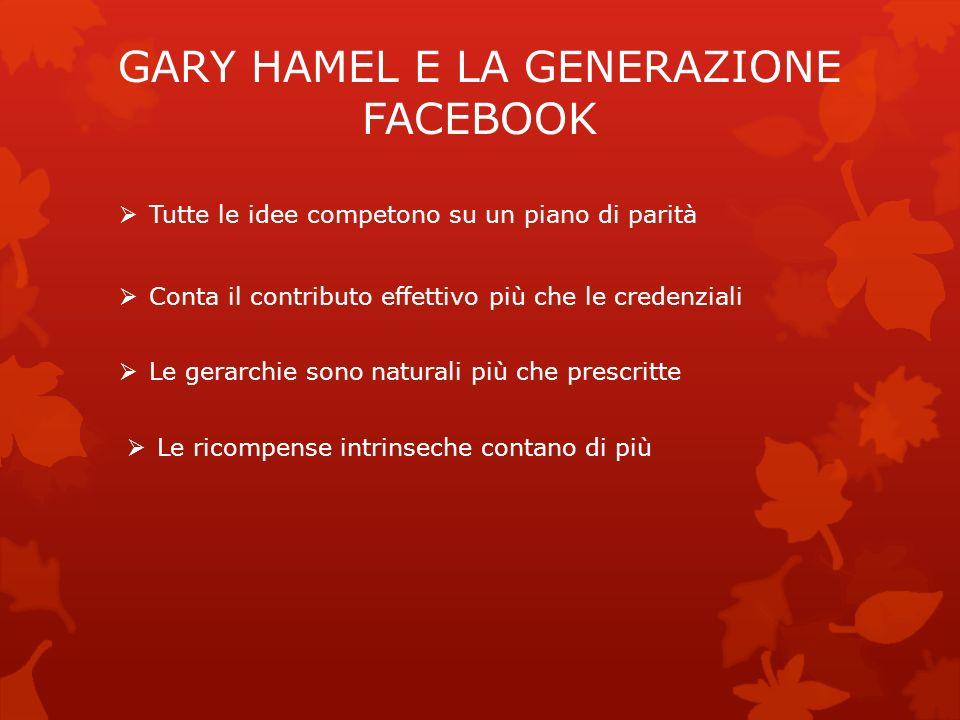 GARY HAMEL E LA GENERAZIONE FACEBOOK