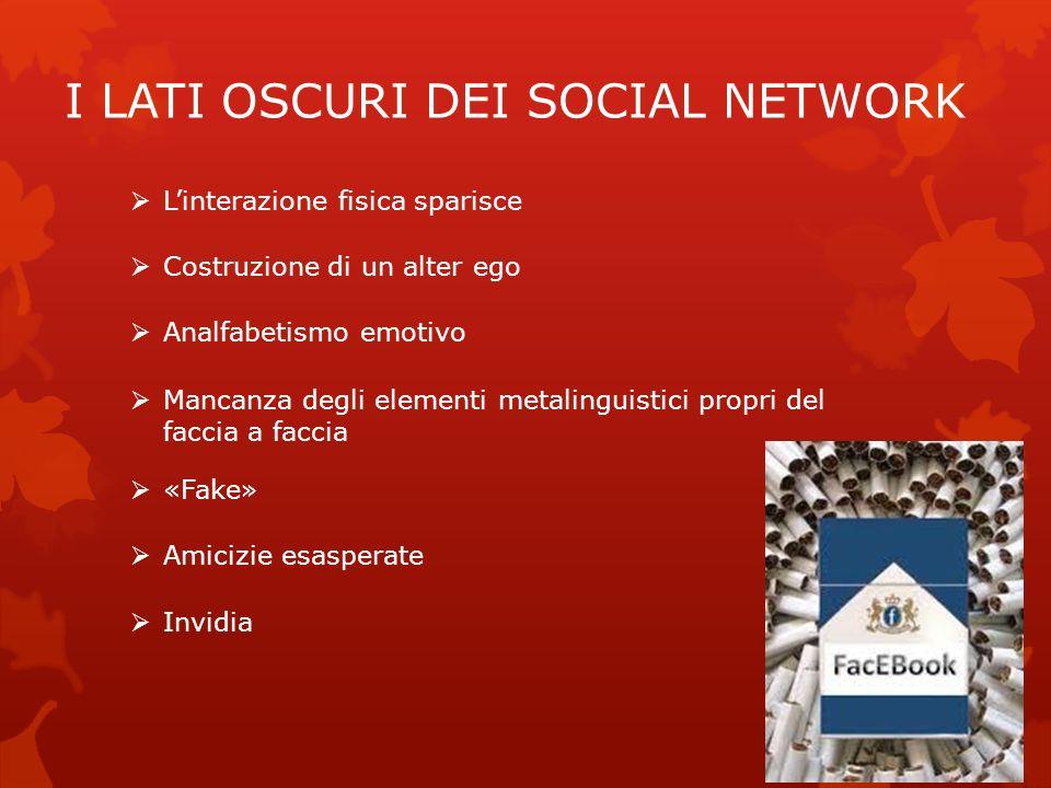 I LATI OSCURI DEI SOCIAL NETWORK