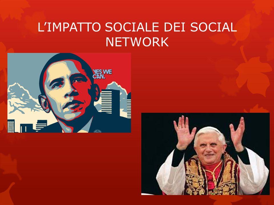 L'IMPATTO SOCIALE DEI SOCIAL NETWORK