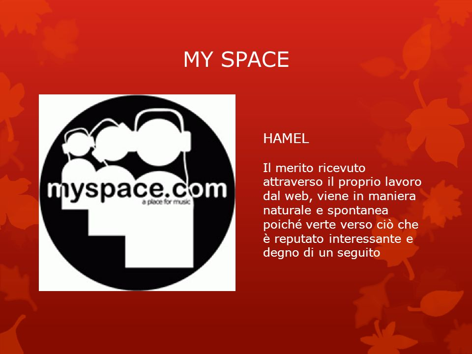 MY SPACE HAMEL.