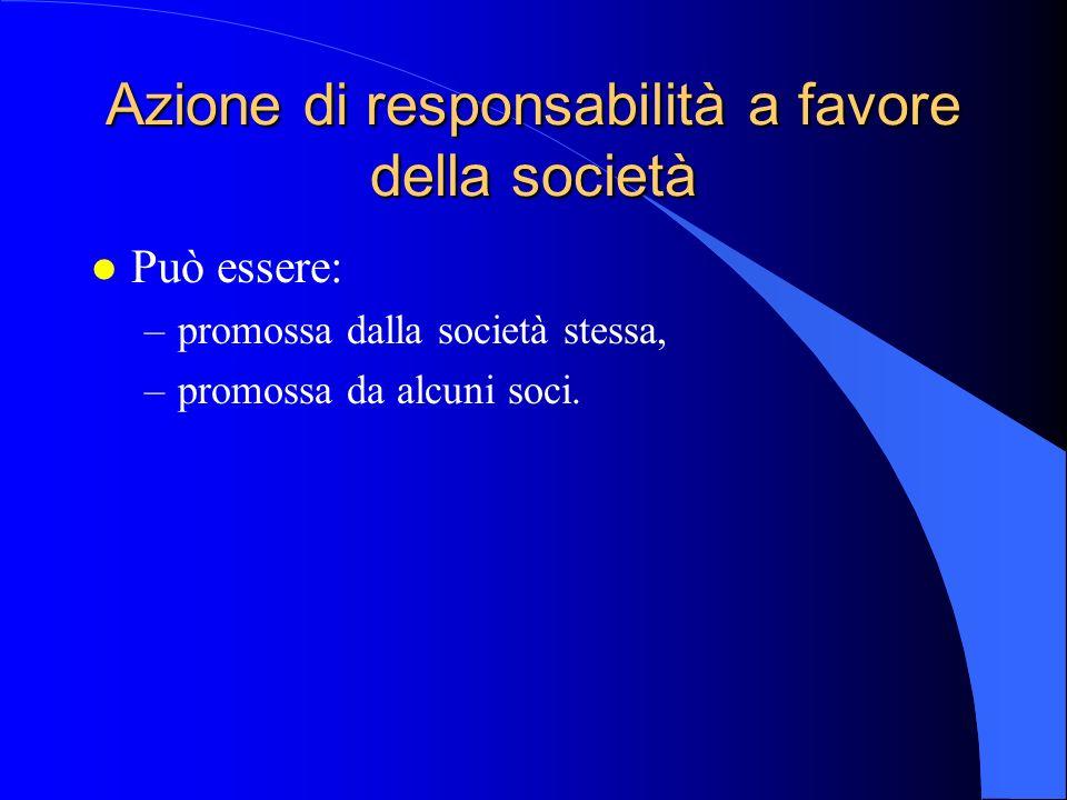Azione di responsabilità a favore della società