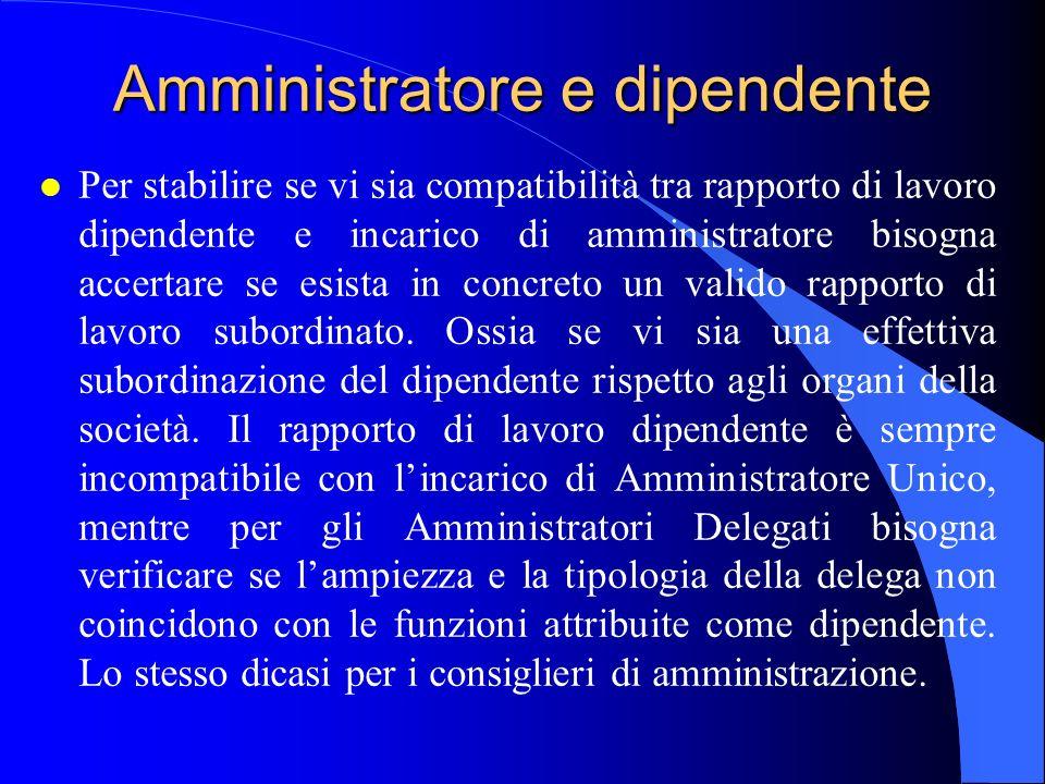 Amministratore e dipendente