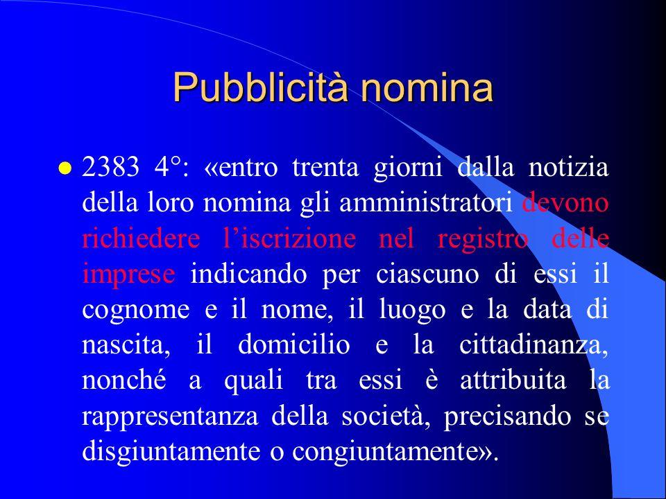 29/03/2017 Pubblicità nomina.