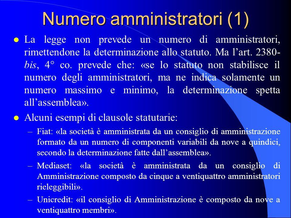 Numero amministratori (1)