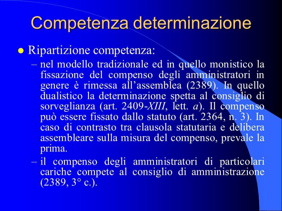 Competenza determinazione