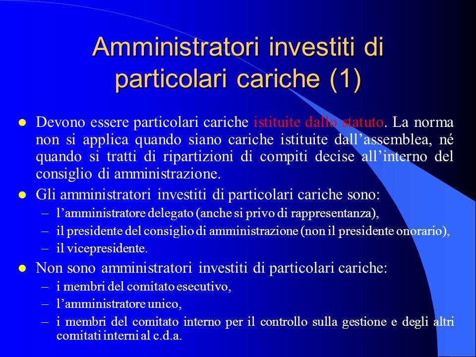 Amministratori investiti di particolari cariche (1)