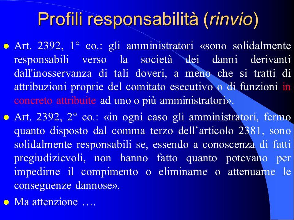 Profili responsabilità (rinvio)
