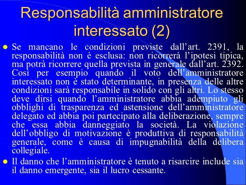 Responsabilità amministratore interessato (2)