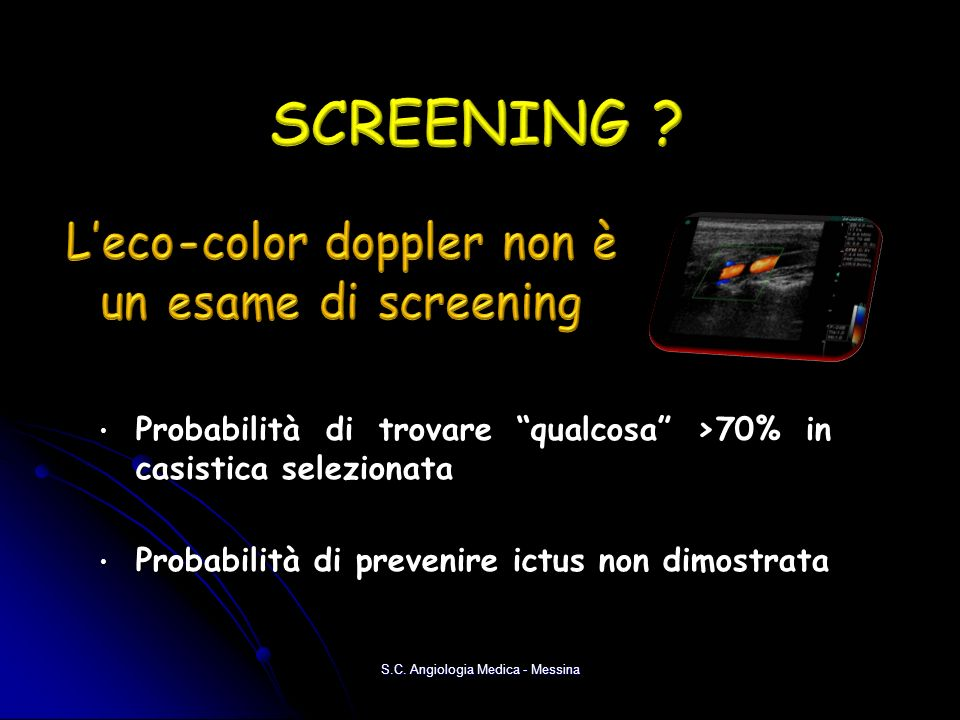 L'eco-color doppler non è un esame di screening