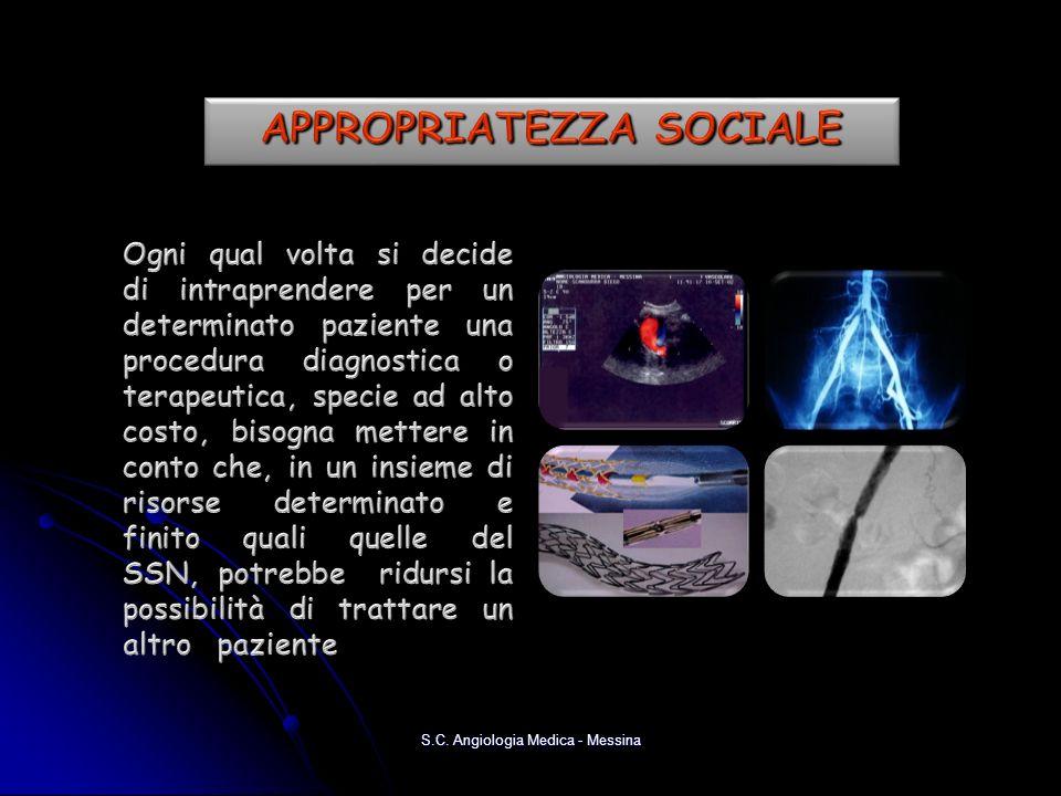 APPROPRIATEZZA SOCIALE
