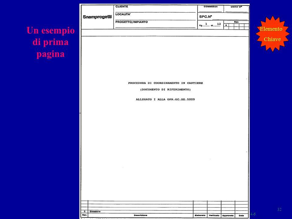 Un esempio di prima pagina