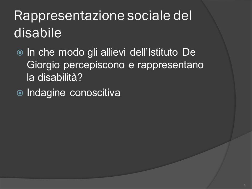Rappresentazione sociale del disabile