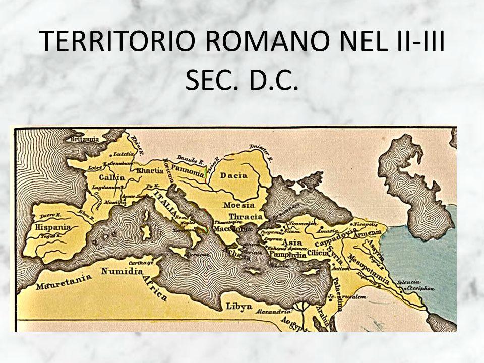 TERRITORIO ROMANO NEL II-III SEC. D.C.