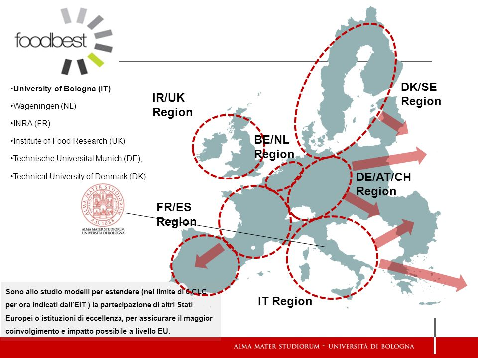 DK/SE Region IR/UK Region BE/NL Region DE/AT/CH Region FR/ES Region