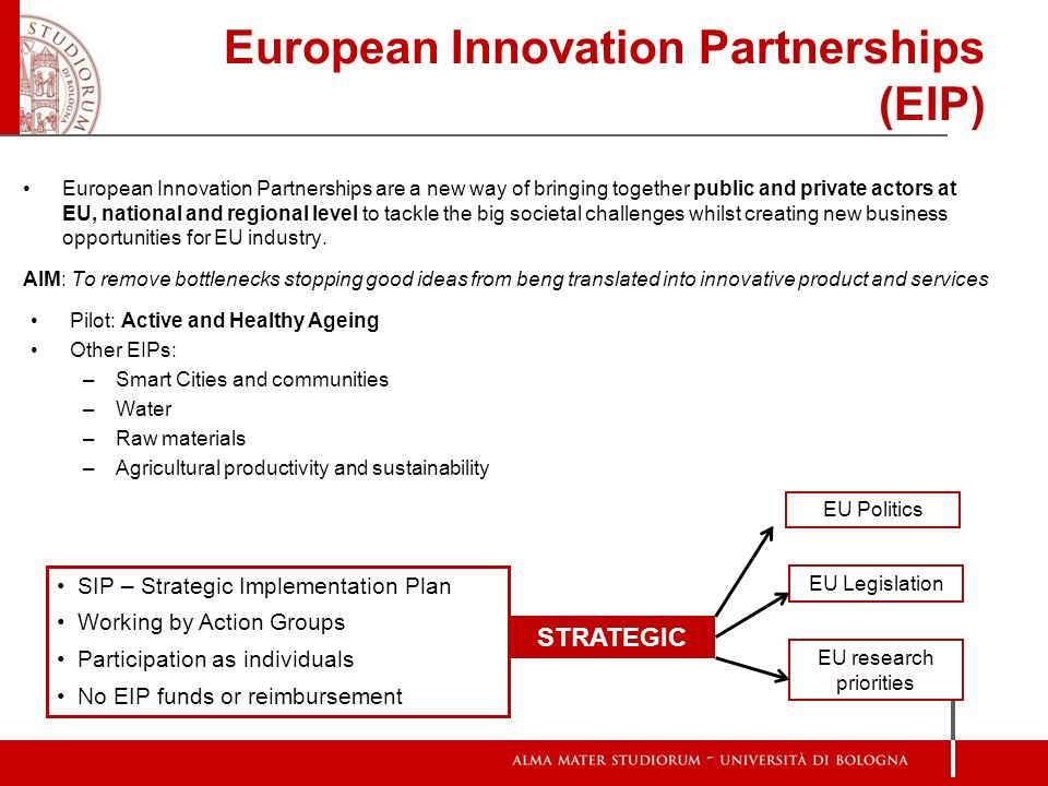 European Innovation Partnerships (EIP)