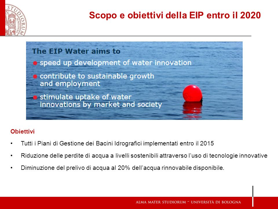 Scopo e obiettivi della EIP entro il 2020