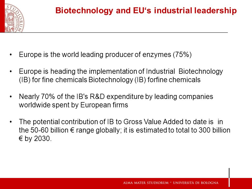 Biotechnology and EU's industrial leadership