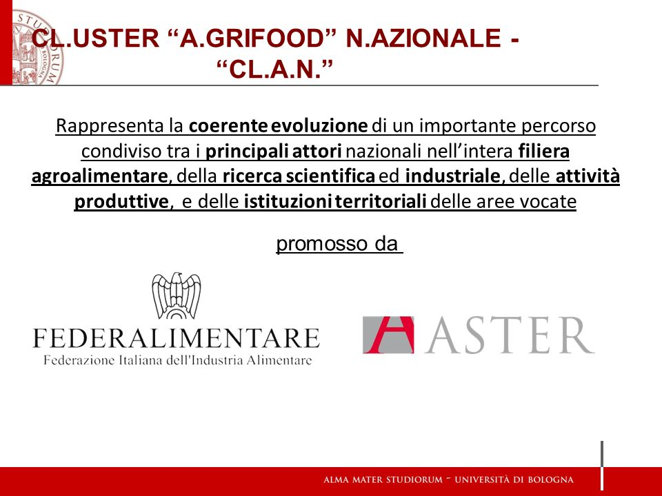 CL.USTER A.GRIFOOD N.AZIONALE - CL.A.N.