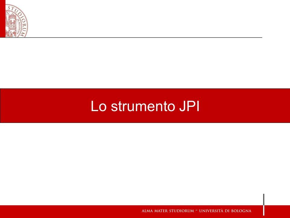 Lo strumento JPI
