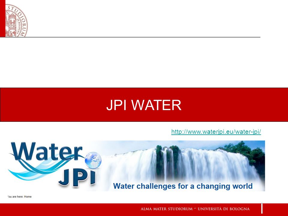 JPI WATER http://www.waterjpi.eu/water-jpi/