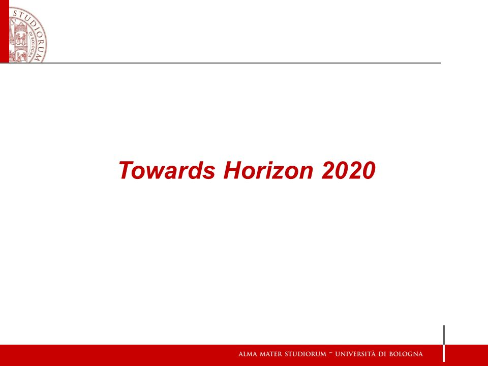 Towards Horizon 2020