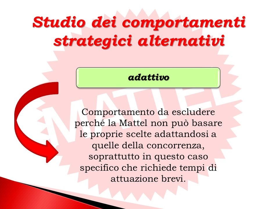 Studio dei comportamenti strategici alternativi