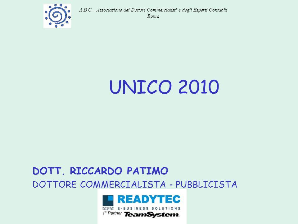 DOTT. RICCARDO PATIMO DOTTORE COMMERCIALISTA - PUBBLICISTA