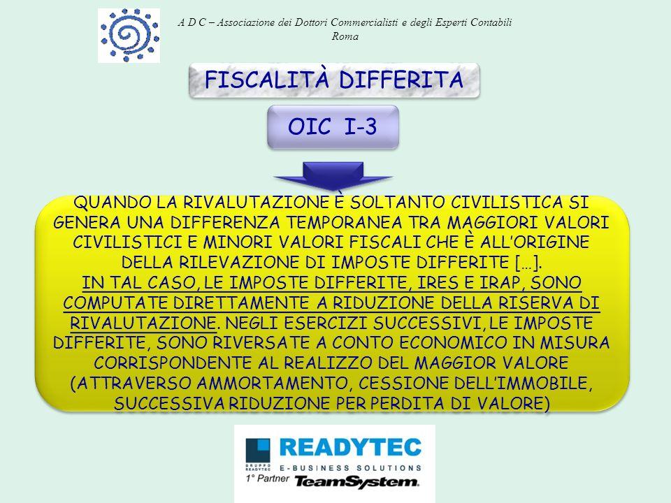 FISCALITÀ DIFFERITA OIC I-3