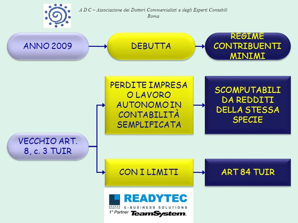 REGIME CONTRIBUENTI MINIMI ANNO 2009