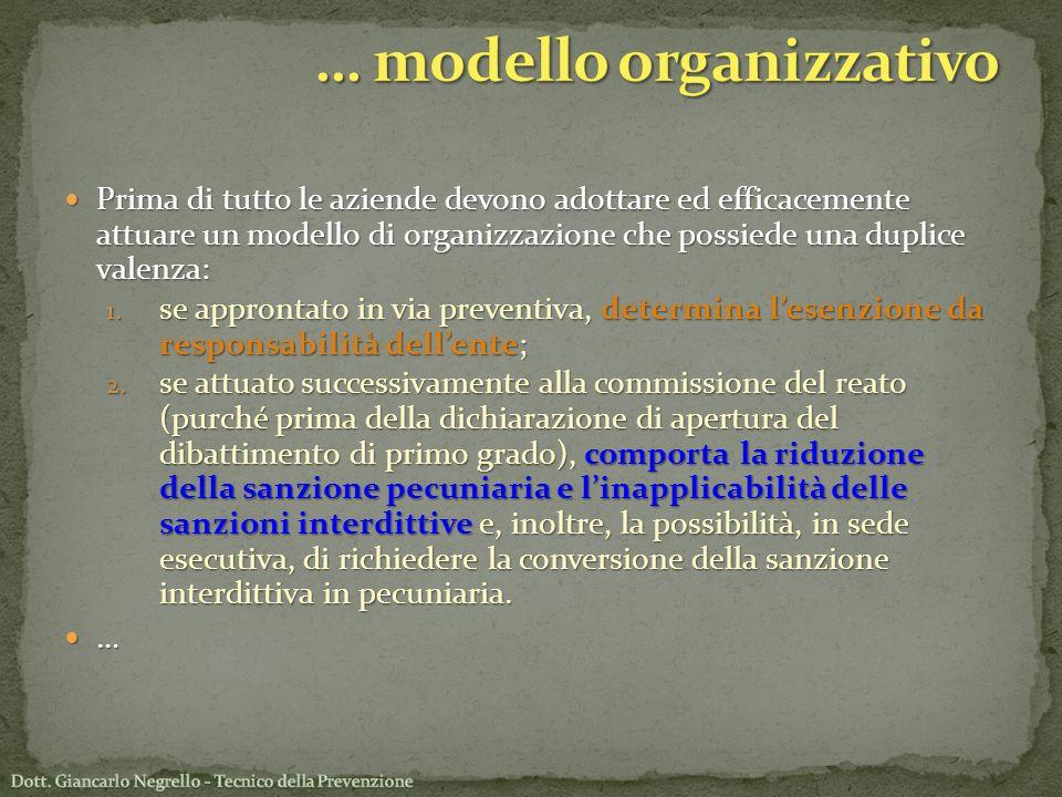 … modello organizzativo