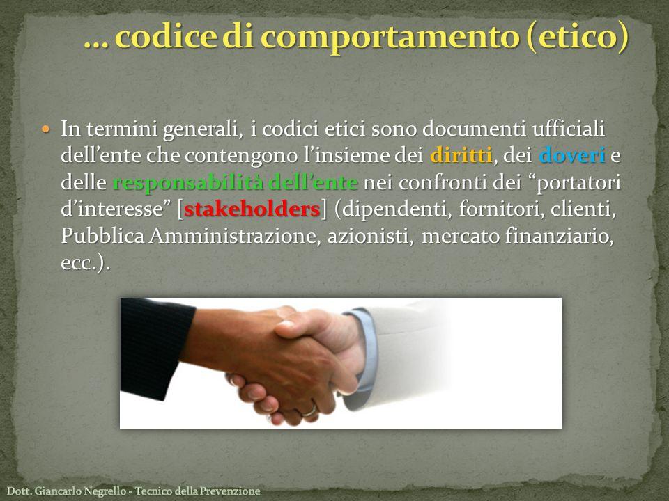 … codice di comportamento (etico)